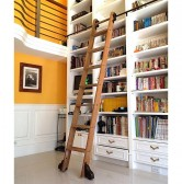 Rolling Library Ladder Kit (Includes Ladder)