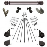 Quiet Glide Rolling Hook Library Ladder Kit (Hardware Only) - Oil Rubbed Bronze Finish