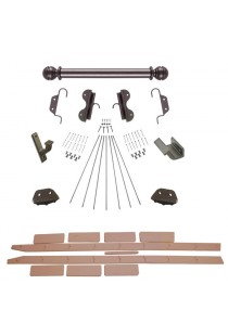 """Quiet Glide Rolling 20""""W Non-Rolling Library Ladder with Non-Skid Feet (with Ladder) Kit - Oil Rubbed Bronze Finish"""
