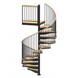 "72""D Blacksmith Collection Forged Iron Code Compliant Spiral Stair Kit - 85"" - 152"""
