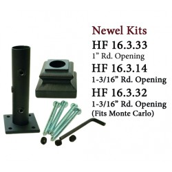 House of Forgings Cast Iron Newel Kits for Round Ended Newels