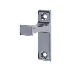 Vertical Bracket for Rolling Library Ladder Top Guides - Chrome Finish