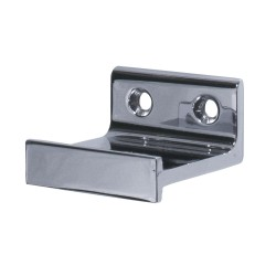 Horizontal Bracket for Rolling Library Ladder Top Guides - Chrome Finish
