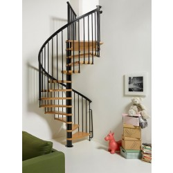 "Arke Nice1 63"" Dia. Wood Tread Spiral Staircase Kits"