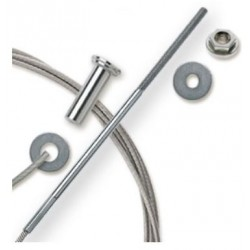 """Feeney CableRail 6300 Series 1/8"""" Stainless Steel Cable Assembly for Wood Frames"""