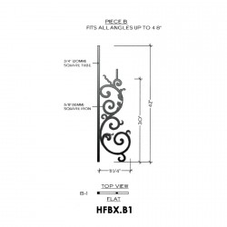House of Forgings HFBX.B1 Bordeaux Flat Panel for Up to 48 Degree Angles