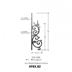 House of Forgings HFBX.B2 Bordeaux Concave Panel for Up to 48 Degree Angles
