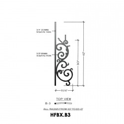 House of Forgings HFBX.B3 Bordeaux Convex Panel for Up to 48 Degree Angles