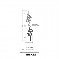 House of Forgings HFBX.E2 Bordeaux Concave Panel for Greater than 40 Degree Angles