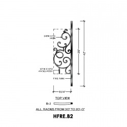 House of Forgings HFRE.B2 Regency Concave Panel for Up to 48 Degree Angles
