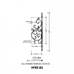 House of Forgings HFRE.B3 Regency Convex Panel for Up to 48 Degree Angles
