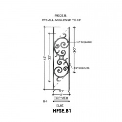 House of Forgings HFSE.B1 Seville Flat Panel for Up to 48 Degree Angle