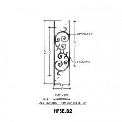 House of Forgings HFSE.B2 Seville Concave Panel for Up to 48 Degree Angle
