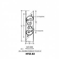 House of Forgings HFSE.B3 Seville Convex Panel for Up to 48 Degree Angle