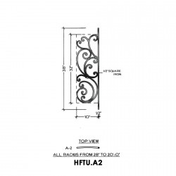 House of Forgings HFTU.A2 Tuscany Concave Panel for Level Balcony / Straight Rail