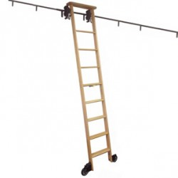Cotterman Wood Rolling Library Ladder Kit - Track Height up to 11'3""