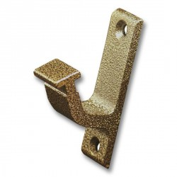 Vertical Bracket for Rolling Hook Library Ladder Top Guides - Hammered Antique Brass Finish