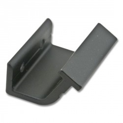Horizontal Bracket for Rolling Hook Library Ladder Top Guides - Black Finish