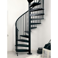 "Arke Civik 47"" Dia. Classic Interior Steel Spiral Staircase Kits"