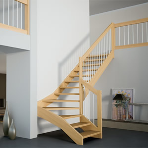 Arke Custom Winder Stairs