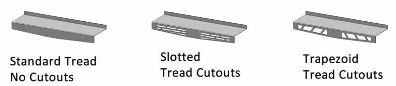 Optional Tread Cutouts: