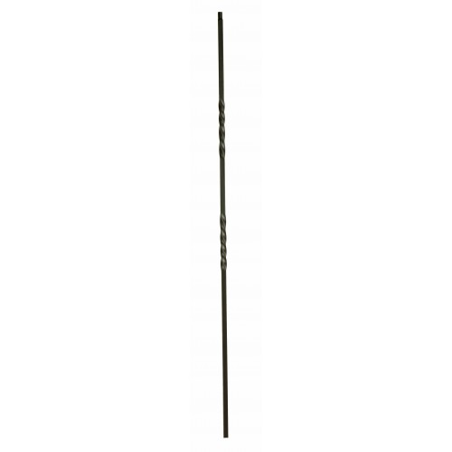 """2TW44 Double Twist 1/2"""" Sq. Baluster Flat Black - SOLID"""