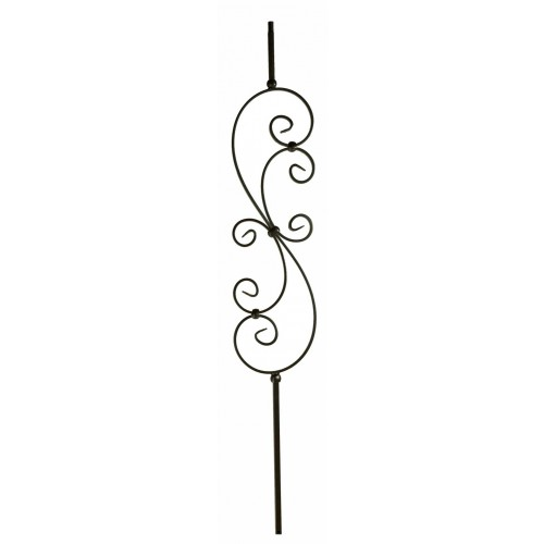 "M30144 Large Scroll 1/2"" Sq. Baluster - Oil Rubbed Bronze - LITE"