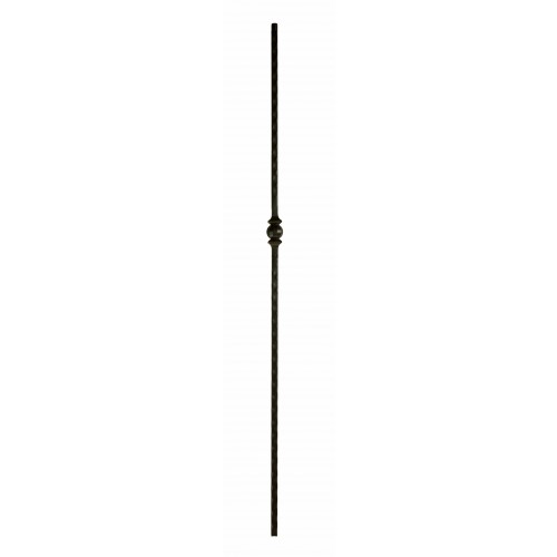 """M30544 Single Forged Ball 9/16"""" Sq. Baluster - Oil Rubbed Copper - SOLID"""