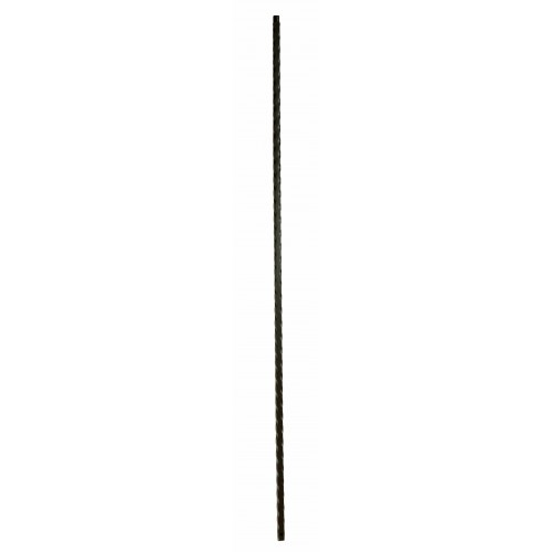 "M9044 Mediterranean Plain 9/16"" Sq. Baluster - Satin Black - LITE"