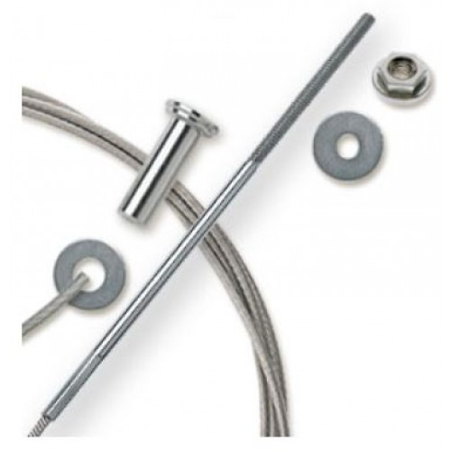 "Feeney CableRail 6300 Series 1/8"" Stainless Steel Cable Assembly for Wood Frames"