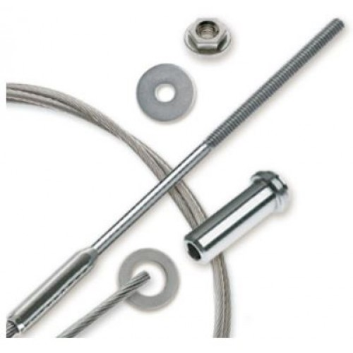 "30ft Feeney CableRail 6800 Series 3/16"" Stainless Steel Cable Assembly for Wood Frames"