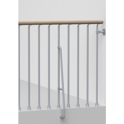 "Arke Stairway Balcony Rail Kits for Phoenix Spiral and Karina Modular Stairways - 3' 10""L Section"