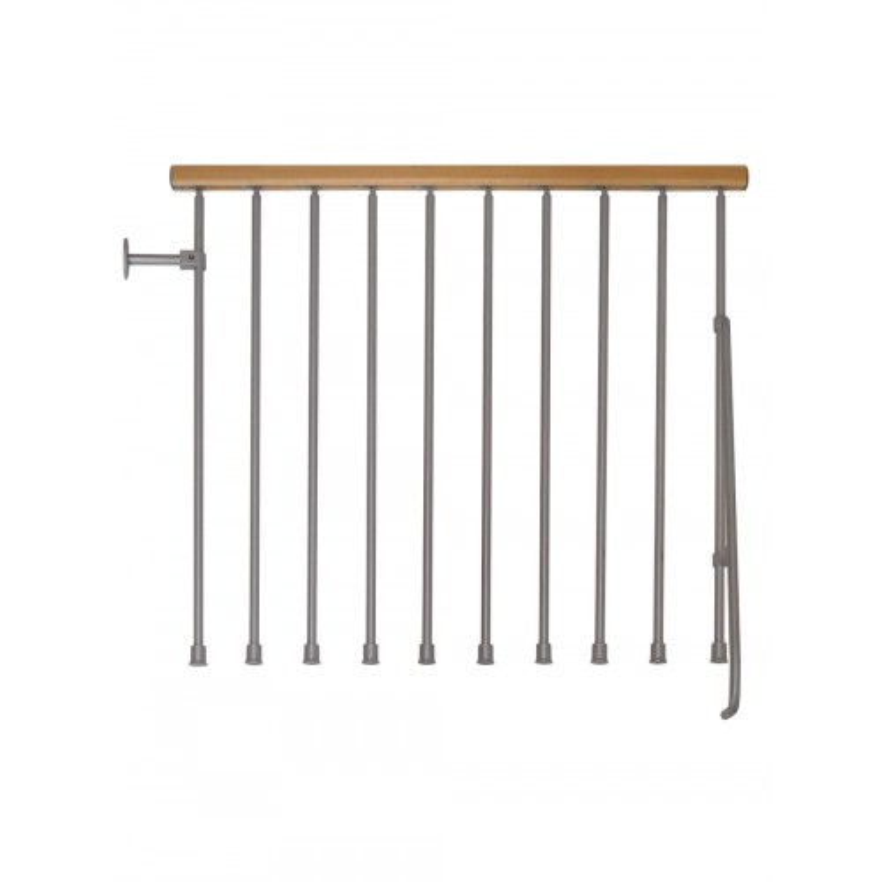 "Arke Kompact Modular Stairway Balcony Rail Kits - 3' 10""L Section"