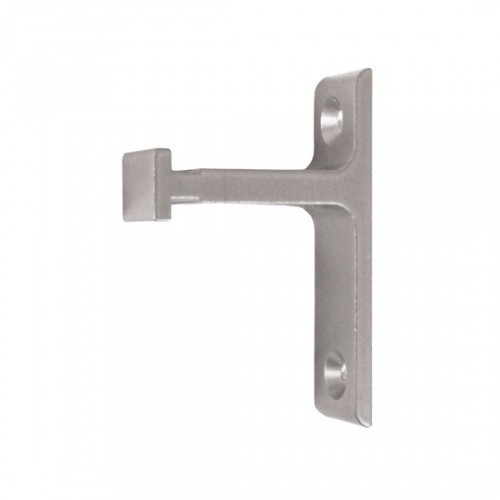 Vertical Bracket for Rolling Library Ladder Top Guides - Satin Nickel Finish