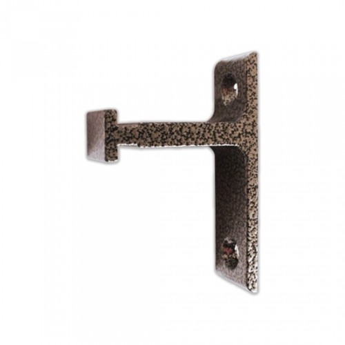 Vertical Bracket for Rolling Library Ladder Top Guides - Hammered Antique Brass Finish