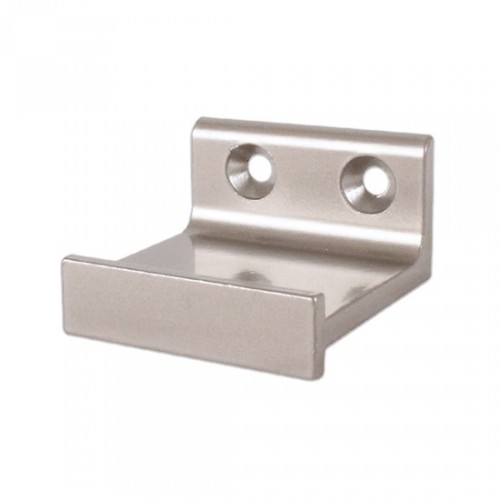 Horizontal Bracket for Rolling Library Ladder Top Guides - Satin Nickel Finish