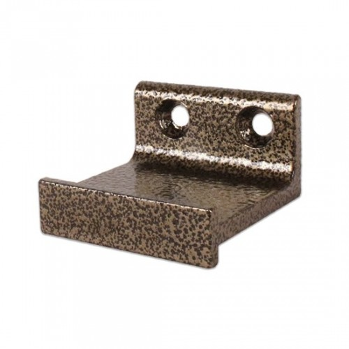 Horizontal Bracket for Rolling Library Ladder Top Guides - Hammered Antique Brass Finish