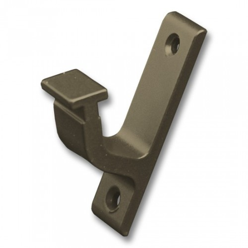 Vertical Bracket for Rolling Hook Library Ladder Top Guides - Oil Rubbed Bronze Finish