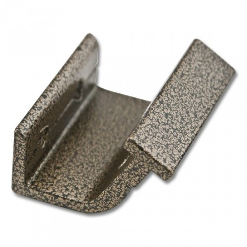 Horizontal Bracket for Rolling Hook Library Ladder Top Guides - Hammered Antique Brass Finish