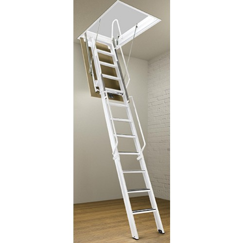 "Rainbow F3075-13 - 30""L x 75""W F-Series Attic Ladder/Stair 12'6""H - 13'4""H"