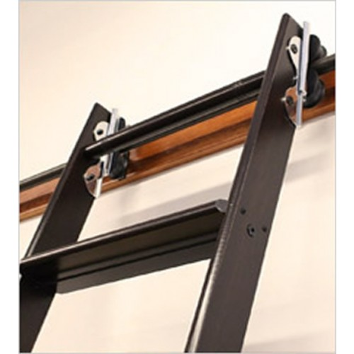 Quiet Glide Rolling 16 Quot W Library Ladder Kit With Ladder