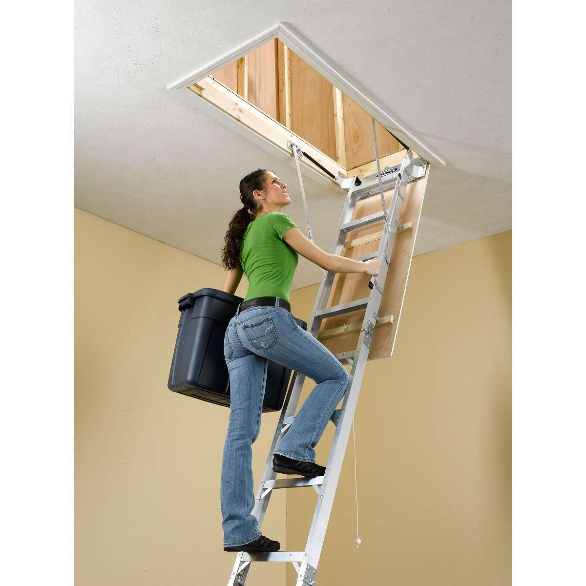 Werner Ah2512 Attic Aluminum Ladder Lightweight Ladders