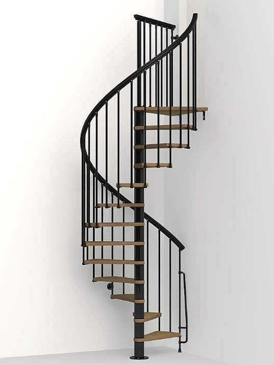 High Quality Wood Tread Spiral Staircase Kits
