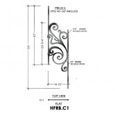House of Forgings HFRB.C1 Rebecca Flat Panel for 40 - 52 Degree Angles
