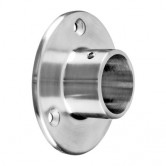 Q-Railing Round Wall Flanges in 316 or 304 Stainless Steel