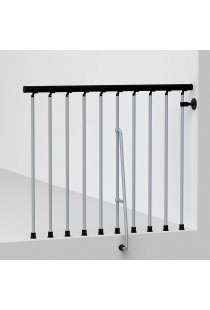 "Arke Civik Spiral Stairway Balcony Rail Kits - 3' 10""L Section"