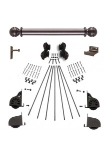 "Quiet Glide Rolling 16""W Library Ladder (Hardware Only) Kit - Oil Rubbed Bronze - Rolling Fixtures"