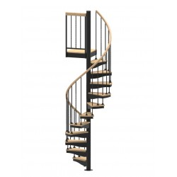 "42""D Blacksmith Collection Forged Iron Non-Code Spiral Stair Kit - 85"" - 152"""