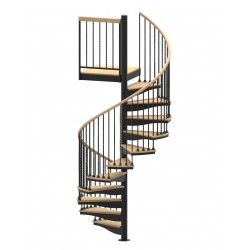 "60""D Blacksmith Collection Forged Iron Code Compliant Spiral Stair Kit - 85"" - 152"""