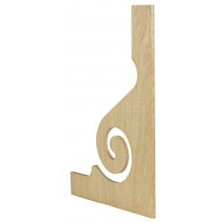 C-8028-V Tread Bracket (Veneered) Oak